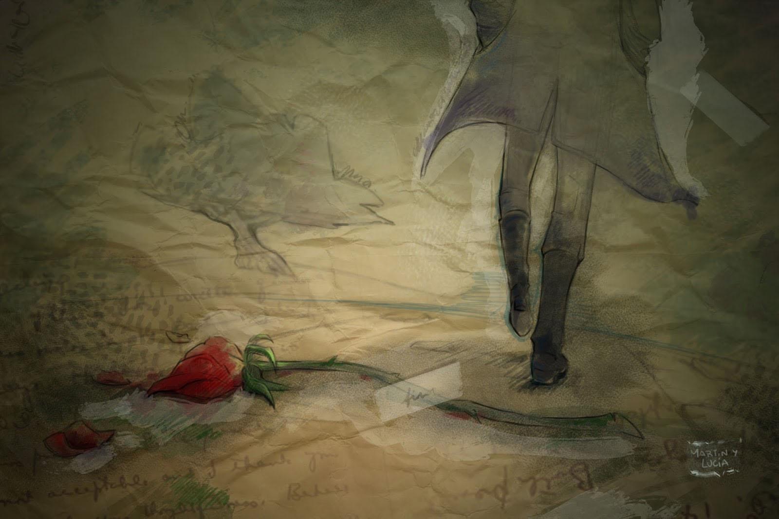 -Dijo que bailaría conmigo si le llevaba una rosa roja -se lamentaba el  joven estudiante-, pero no hay una solo rosa roja en todo mi jardín.