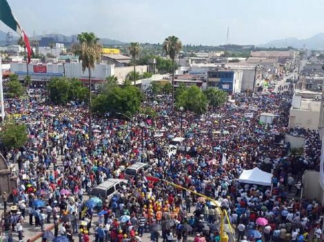Ni la mega manifestación sirvió para doblegar al gobierno de Peña Nieto.