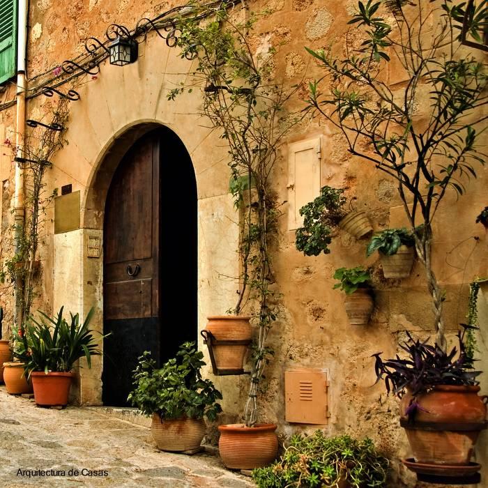 a view of an old mediterranean village