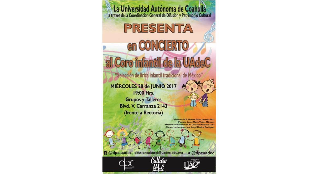 Presenta la UAdeC a su Coro Infantil con una selección de lírica tradicional