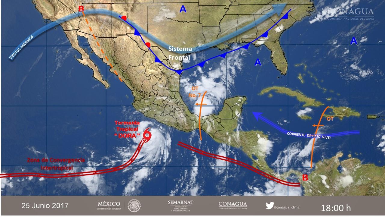 """Dora"" traerá lluvias a Coahuila en las próximas horas: SMN"