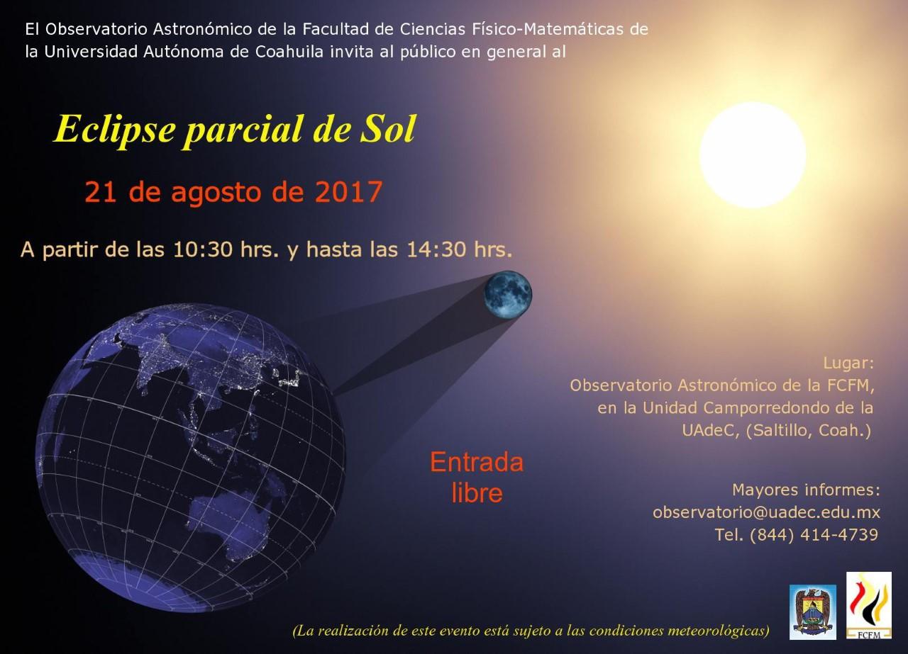 Invita la UAdeC a ver eclipse desde su Observatorio Astronómico