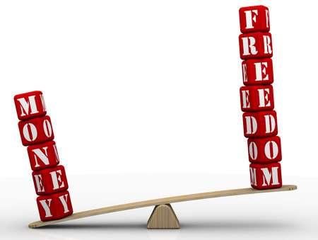 42531027-libertad-o-dinero-comparando-en-las-escalas